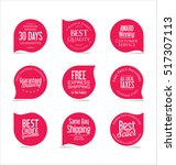 set of modern sale stickers | Shutterstock .eps vector #517307113
