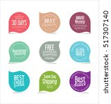 set of modern sale stickers | Shutterstock .eps vector #517307140