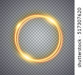 Magic Gold Circle Light Effect...