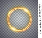 Magic Gold Circle Light Effect...