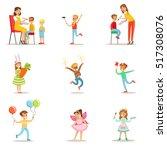 children in costume party set... | Shutterstock .eps vector #517308076