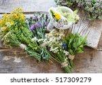 herbs medicine flowers toned...   Shutterstock . vector #517309279