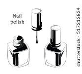 nail polish icon. nail polish... | Shutterstock .eps vector #517313824