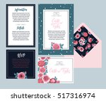 set of templates  for wedding... | Shutterstock .eps vector #517316974