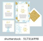 set of templates  for wedding... | Shutterstock .eps vector #517316998