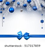 Blue New Year Background With...