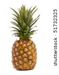 a whole pineapple isolated on a ... | Shutterstock . vector #51732325