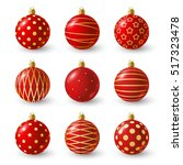 set of christmas balls for your ... | Shutterstock .eps vector #517323478