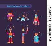 set of technologies  icons for...   Shutterstock .eps vector #517324489