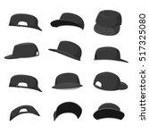black caps collection   vector... | Shutterstock .eps vector #517325080