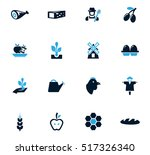 agriculture and farming icon... | Shutterstock .eps vector #517326340