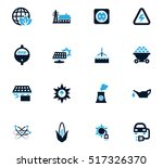 bio fuel industry icons set for ... | Shutterstock .eps vector #517326370