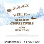 christmas greeting card with... | Shutterstock .eps vector #517327120