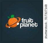 fruit planet company business... | Shutterstock .eps vector #517327168