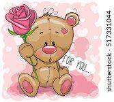 greeting card cute cartoon... | Shutterstock .eps vector #517331044