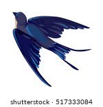 Stock vector swallow vector vector illustration isolated bird bird flying bird silhouette bird vector 517333084