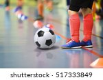 children training soccer futsal ...   Shutterstock . vector #517333849