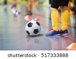 children training soccer futsal ... | Shutterstock . vector #517333888