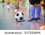 Children Training Soccer Futsa...