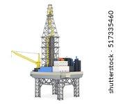 industrial platform isolated on ... | Shutterstock . vector #517335460