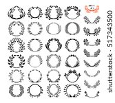 logo creator circle. set of... | Shutterstock .eps vector #517343500