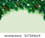 new year background with fir... | Shutterstock .eps vector #517344619