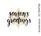 vector hand written winter... | Shutterstock .eps vector #517344760