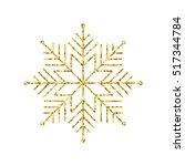 vector geometric winter  golden ... | Shutterstock .eps vector #517344784