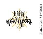 vector hand written winter... | Shutterstock .eps vector #517344874