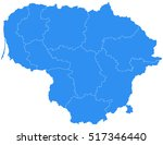 vector map lithuania. isolated... | Shutterstock .eps vector #517346440