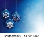 blue christmas background with... | Shutterstock .eps vector #517347364