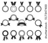 set of black medal icons and... | Shutterstock .eps vector #517347400