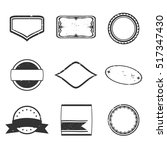 set of black rubber stamps | Shutterstock .eps vector #517347430
