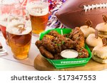 snacks for watching a football...   Shutterstock . vector #517347553
