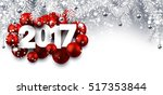 2017 New Year Banner With Red...