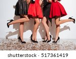 closeup of legs of women... | Shutterstock . vector #517361419