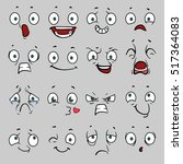 comic cartoon faces with... | Shutterstock . vector #517364083