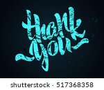 thank you lettering. hand... | Shutterstock .eps vector #517368358