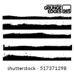 hand drawn edges pattern... | Shutterstock .eps vector #517371298