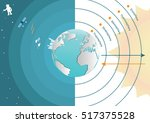 the main layers atmosphere of... | Shutterstock .eps vector #517375528