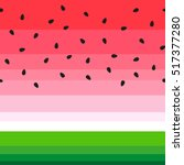 vector watermelon background... | Shutterstock .eps vector #517377280