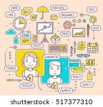 vector illustration of talking... | Shutterstock .eps vector #517377310
