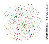 multicolored confetti. abstract ... | Shutterstock .eps vector #517378510