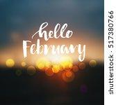 vector hello  february poster  | Shutterstock .eps vector #517380766