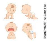 baby cartoon set 1 | Shutterstock .eps vector #517385140