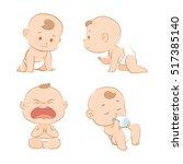 baby cartoon set 1 | Shutterstock .eps vector #517385140