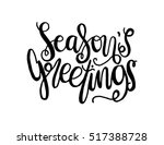 Seasons Greetings Hand Lettere...