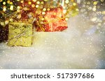 christmas gifts | Shutterstock . vector #517397686