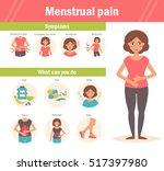 menstrual pain infographic.... | Shutterstock .eps vector #517397980