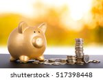 piggy bank with euro money... | Shutterstock . vector #517398448